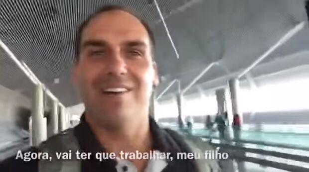 Filho de Bolsonaro ironiza vídeo de sobrinho de Zeca, que agradece 'ajuda'