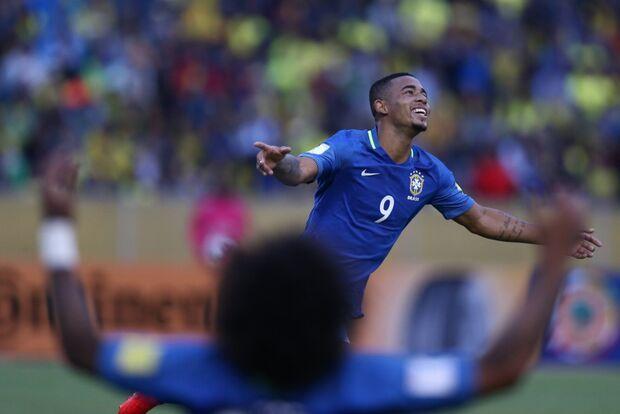 Brasil vence o Equador por 3x0 em boa estreia de Tite e Gabriel Jesus
