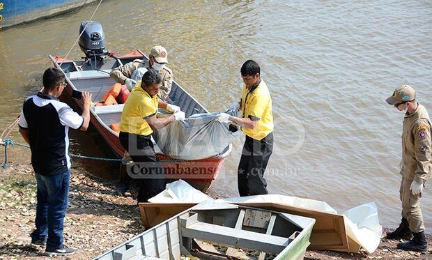 Bombeiros resgatam corpo de homem desaparecido há 3 dias no Rio Paraguai
