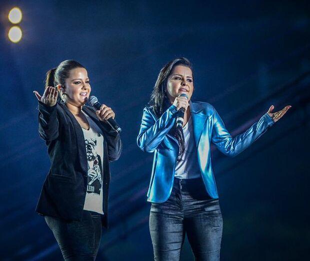 Maiara e Maraísa divulgam trechos de músicas para gravação do novo DVD