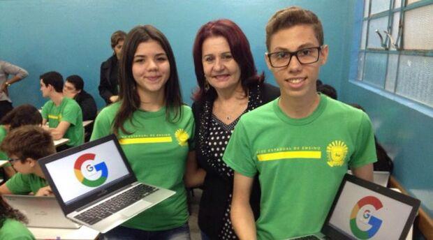 Estudantes da escola José Maria Hugo Rodrigues iniciam aplicação do Google for Education