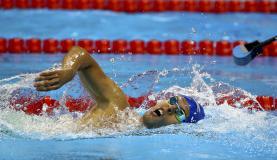 Matheus Souza ganha bronze inédito para o Brasil nos 400 m livre