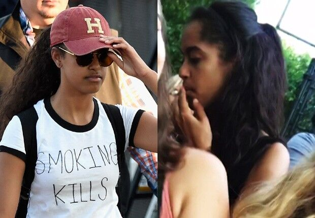 Filha de Obama usa camiseta com frase 'fumar mata' em meio a polêmicas com maconha