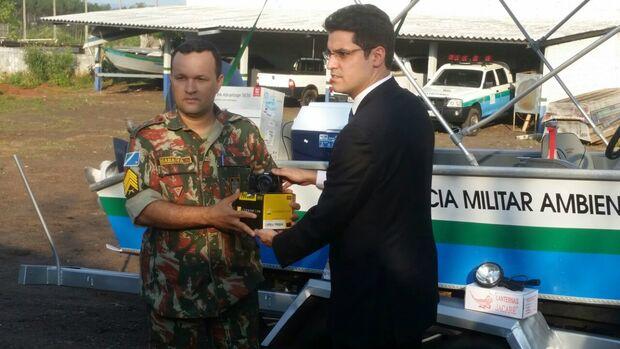 Polícia Ambiental tem lancha reformada por meio de parceria com o MPE