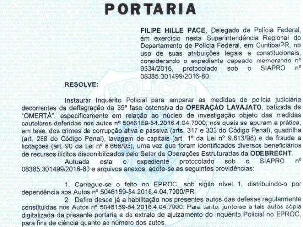 PF abre inquérito sobre pagamentos de setor de propina da Odebrecht