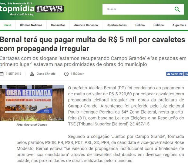 Justiça Eleitoral nega tentativa de coligação calar o TopMídiaNews