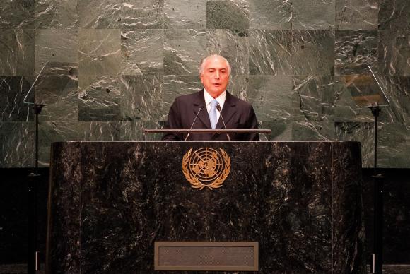 Temer diz na ONU que impeachment respeitou ordem constitucional