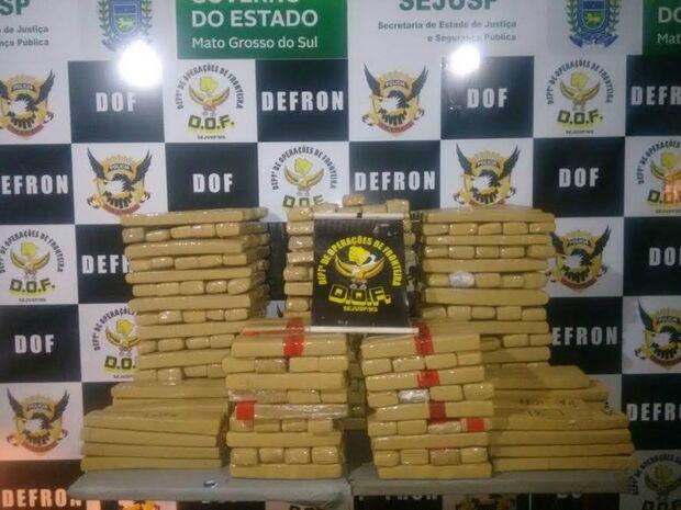 DOF apreende drogas e contrabandos avaliados em R$ 25 milhões