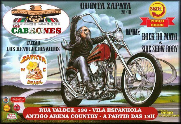 Zapata: mais antigo moto clube em atividade no Brasil faz evento na Capital