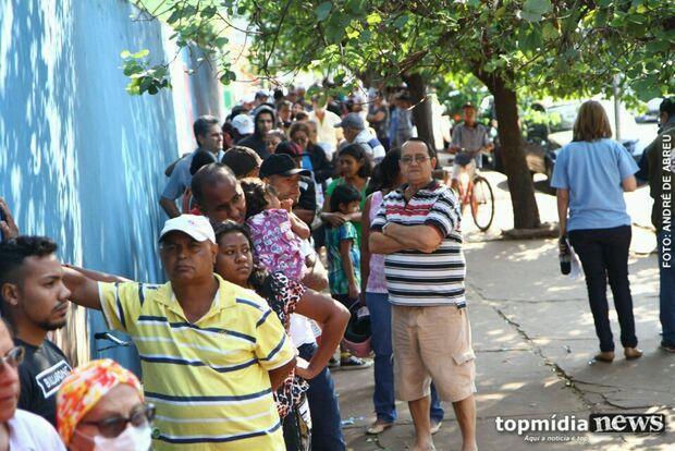 Na zona eleitoral mais 'populosa' de Campo Grande, fila começou a se formar às 6h