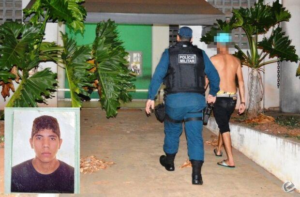 Jovem é preso e adolescente detido por roubo de celulares em Coxim