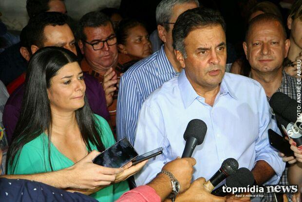 Em MS, Aécio comenta prisão de Cunha: 'apenas mais uma etapa'