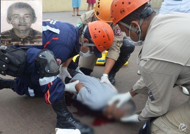 Idoso morre após ser atingido por moto de condutora sem CNH