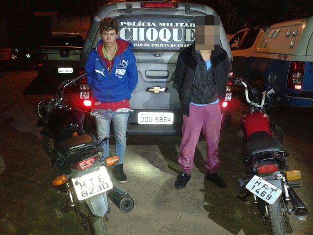 Polícia apreende dupla e recupera motocicletas furtadas após perseguição na Capital