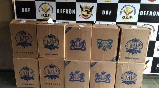 DOF apreende mil pacotes de cigarros em residência no interior