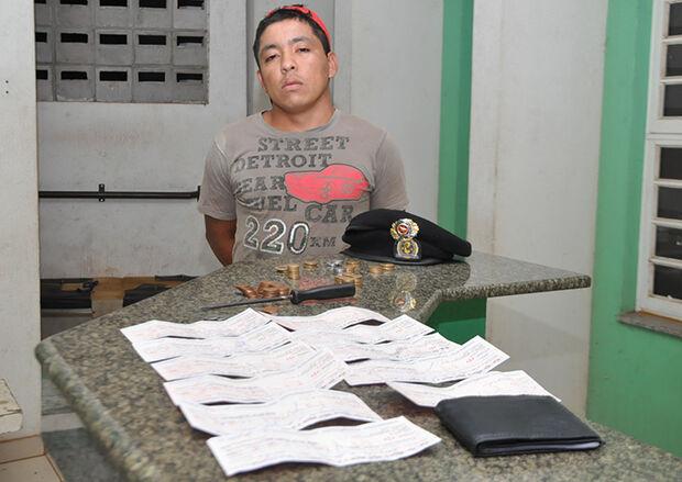 Após arrombar loja, homem é preso com R$ 16 mil em cheques