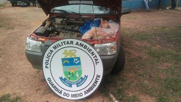 Estudante é flagrado com filé de pescado ilegal escondido em estepe do veículo