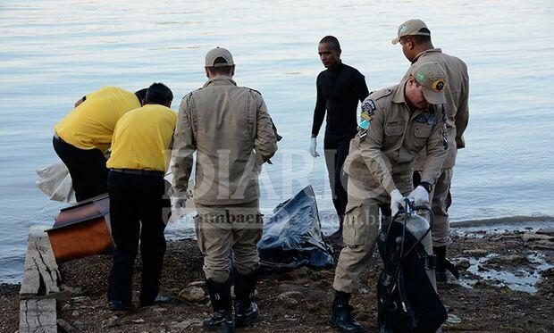 Bombeiros resgatam corpo de rapaz que desapareceu no Rio Paraguai