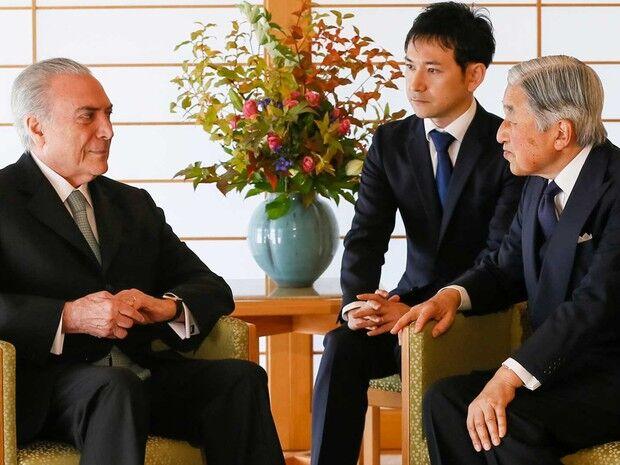 Temer é recebido pelo imperador japonês