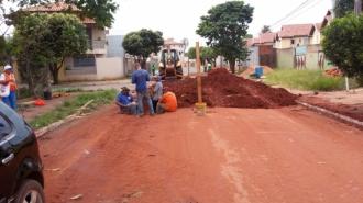 Obras de drenagem da Marques de Lavradio estão com 40% concluídas