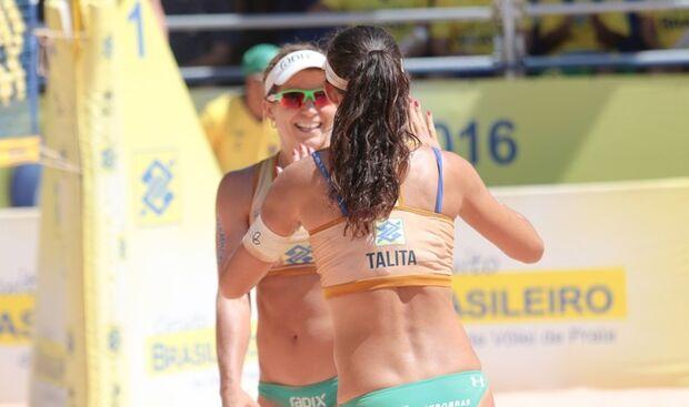 Em busca do tri, Larissa e Talita levam etapa de Brasília e mantêm liderança
