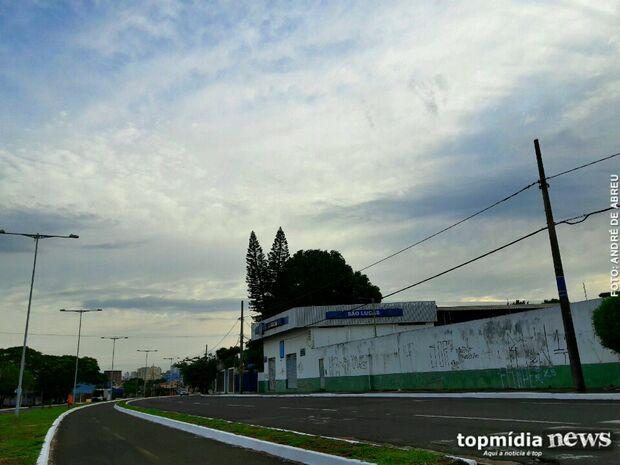 Previsão de sol entre nuvens em Campo Grande