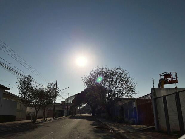 Meteorologia prevê sol o dia inteiro na Capital