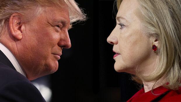 Hillary dispara à frente de Donald Trump em pesquisa de intenção de votos