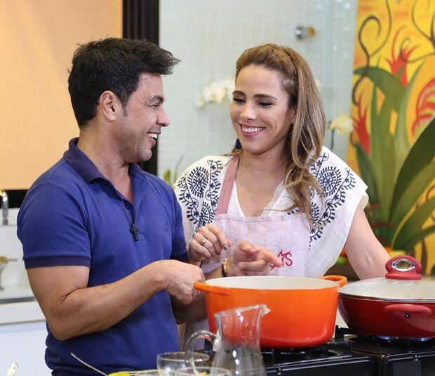 Wanessa Camargo cozinha pela primeira vez e o pai Zezé entrega: 'Nunca vi fritar um ovo'