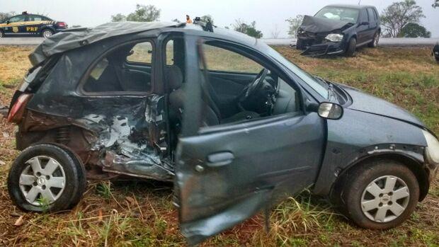 Idosa morre e três ficam feridos em acidente na BR-163