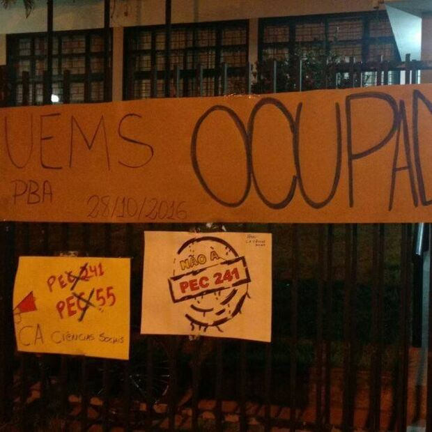 Associação de vereador eleito entra com ação civil contra ocupação da UEMS
