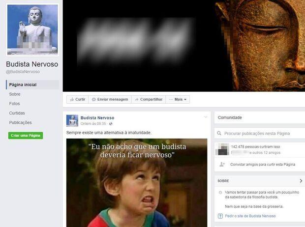 Página do Facebook com mais 142 mil seguidores é denunciada por ofensas ao Budismo