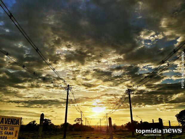 Segunda-feira será de céu nublado, com pouca chuva em Mato Grosso do Sul