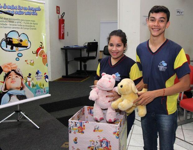 Instituto Mirim de Campo Grande promove campanha de arrecadação de brinquedos para o Natal
