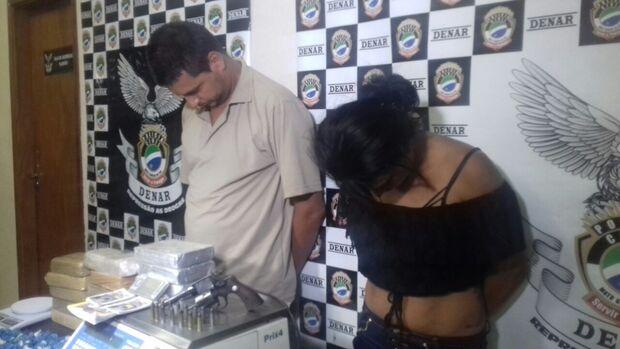 Casal é preso com cocaína avaliada em R$ 400 mil na Capital