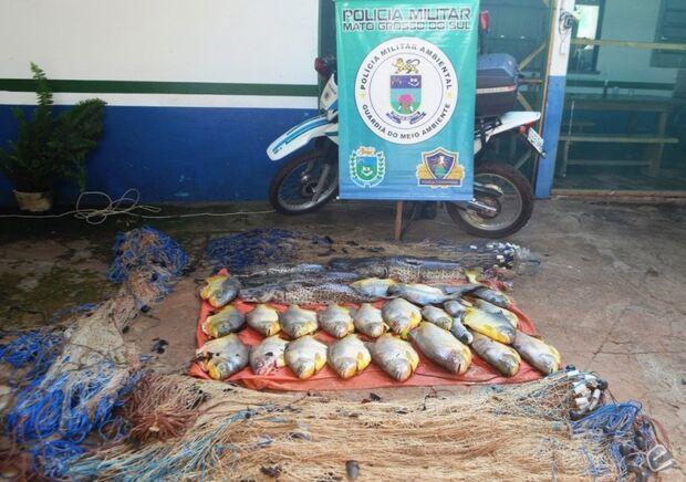 PMA apreende 83 kg de pescado durante Operação Piracema em Coxim