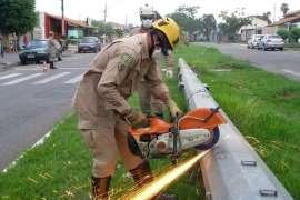 Bombeiros encontram corpo dentro de poste em Goiânia