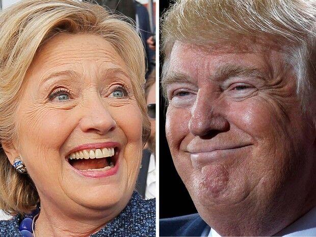 Nova pesquisa aponta Hillary 5 pontos à frente de Trump