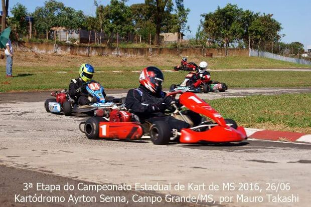Mesmo com mão lesionada, Rodrigo Stephanini é hexacampeão estadual de Kart