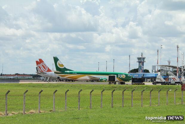 Aeroporto opera com sete voos nesta segunda-feira