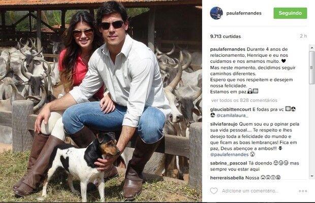 Paula Fernandes termina noivado e faz desabafo: 'Caminhos diferentes'
