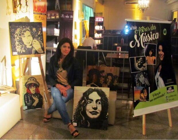 Artista que pinta astros e estrelas da música em pallets vai expor obras no Festival das Artes