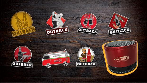 Outback e Coca-Cola presenteiam clientes com a promoção 'Colecione Momentos'