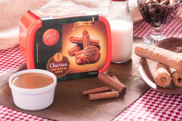 Inspirada no Chaves, empresa de MS cria sorvete de churros com doce de leite