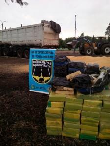 PMR apreende 1,7 tonelada de maconha que seguia para Santa Catarina