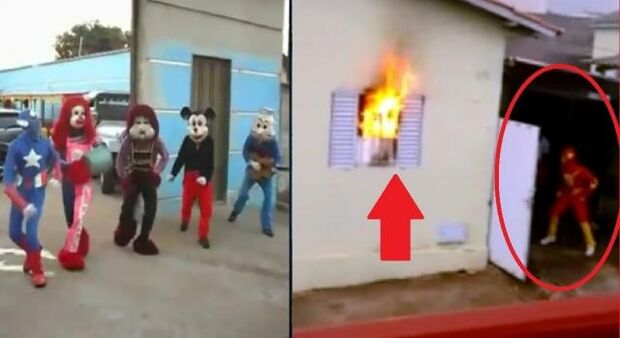 Heróis: 'Carreta Furacão' salva mãe e filho de incêndio