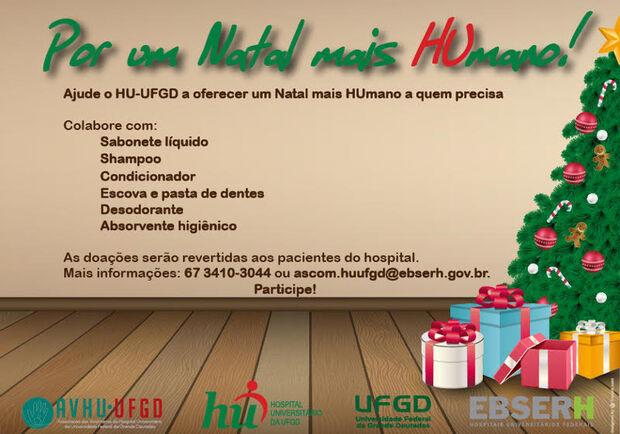HU-UFGD lança segunda edição da campanha 'Por um Natal mais HUmano'