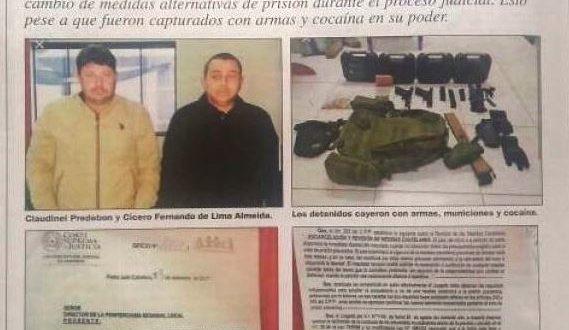 Juiz paraguaio libera integrantes do PCC flagrados com armas e drogas
