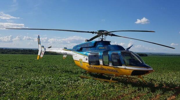 Helicóptero da PRF de MS auxilia forças de segurança na tragédia de Brumadinho