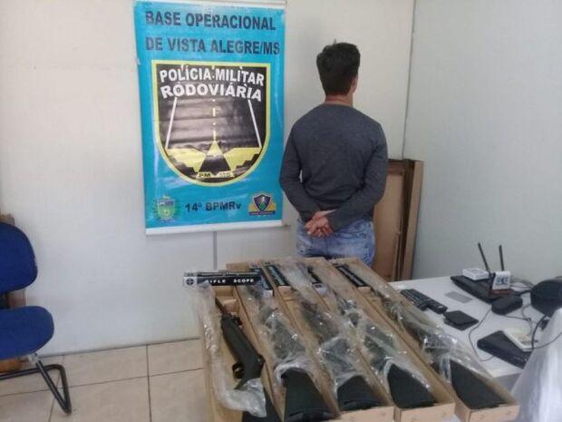 Contrabando: homem é preso com espingardas contrabandeadas do Paraguai